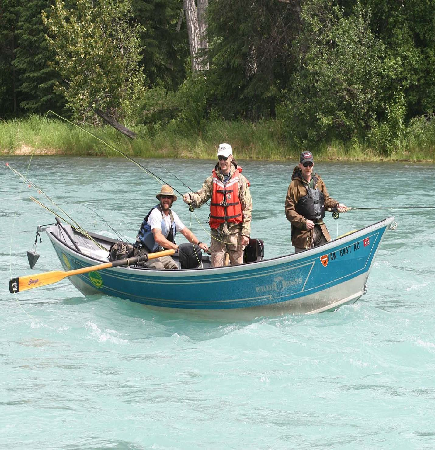 Alaska Rivers Company Guided Fishing Drift Boat Alaska